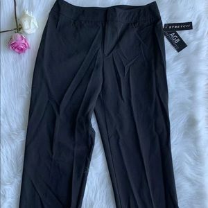 AGB Black Dress Pants Trousers Size 6 Straight Leg